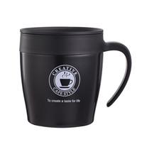 남자와 여자 워터 컵 스테인레스 스틸 커피 머그잔 사무실 미끄럼 방지 차 텀블러 커버 스푼 음소거 단열재 판매 17yzb1