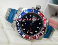 Excellente Montres-bracelets 40mm GMT Batman 116719 16719BLRO Rouge Bleu Pepsi céramique Lunette 2813 Mouvement mécanique automatique Hommes Montres Montres