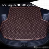 Für Jaguar XE 2017 Jahre s Auto-Anti-Rutsch-Trunk Mat wasserfestes Leder Teppich Auto-Kofferraum-Matte Flat Pad