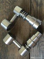 Универсальный Domeless Titanium Nail 4 IN 1 14мм 18мм двойной функции GR2 восковое масло Кальян Водопроводные трубы Бонг Ash Dab Rigs