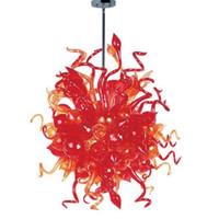 Kolye Lambaları Renkli Asılı Chandeleirs Kolye-Işık Ev Dekorasyon Için LED Ampuller Tarzı Murano Üflemeli Cam Avize