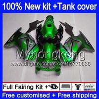 +Tank For KAWASAKI ZX-250R EX-250 ZX250R 08 09 10 11 12 201MY.23 EX250 ZX 250R EX 250 EX250R 2008 2009 2010 2011 2012 Green grey Fairings