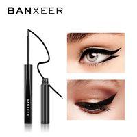 Banxeer Eyeliner 2 brosse Head Yeux maquillage étanche Noir Black Eye-liner Stylo maquillage Crayon Eye Doublure Crayon Cosmétique