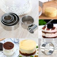 11 шт / Set Nonstick Bottom кекса Круглый торт выпечки прессформы алюминиевого сплава торт Slicer Mold устройства Кухня Выпечка Инструменты BH2423 CY