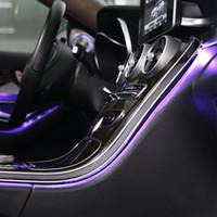64 colori LED Light Ambient per Mercedes Benz Class Class W205 X253 C200L Lampada per lampada Ambient per W205 X253 Styling auto illuminato