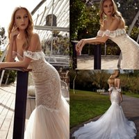 2020 Julie Vino Mermaid Wedding Dresses Lace Appliqued Off The Shoulder Wedding Dress Sweep Train Custom Made Robes De Mariée