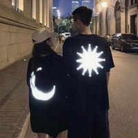 Kadın T-shirt Yaz Giysileri 2021 Yansıtıcı Kız Arkadaş Çift Üst Gevşek Kişiselleştirilmiş Kısa Kollu Kadın Erkek