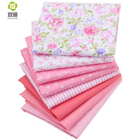 Stoff 8 Farbe Baumwolle Twill Patchwork Tuch Tuch von Handmade DIY Quilting Nähen Babykinderblättern Kleid 40 * 50 cm 8pcs / lot
