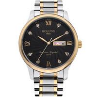 reloj 드 lujo HOLUNS 남성 시계 캐주얼 간단한 남성 손목 시계 MONTRE 딜럭스 상위 고급 전체 스테인레스 스틸 스트랩 석영 남성 시계