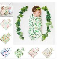 Babyschlafsäcke Neugeborenes Baby Cocoon Swaddle Wrap mit Haarband Neugeborenen Wickel Wickelschlafsack 2pcs / lot