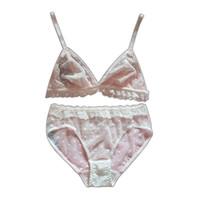 슈퍼 얇은 섹시한 사랑스러운 핑크 화이트 사랑 메쉬 레이스 여자의 브래지어 세트 20200121 새로운 속옷