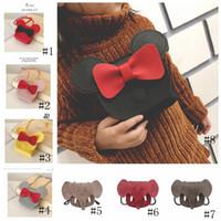 8 stili del fumetto dei capretti Elephant Borse Ragazze Papillon Borsa a tracolla bambini Mini Mouse della borsa della spalla Crossbody Borse GGA3460-3