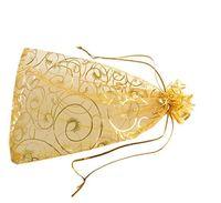 100pcs 9x12cm blanc noir rouge rose bleu cil organza DRAWSTRING bijoux pochette de mariage faveur cadeau sacs