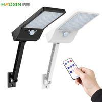 Haoxin 48 LED 태양 거리 야드 정원 라이트 경로 벽 홍수 램프 야외 PIR 모션 센서 IP 65 방수 스포트 Otable 브래킷 원격
