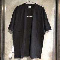 Mens Tshirt Vetements uomini della maglietta Bianco Big Red Black Women Tag Vetements Tees oversize vetements t-shirt