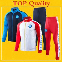 Napoli Soccer Jacket Tracksuit 2020 White Blue TOP Quality N...