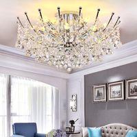 현대 샹들리에 조명 펜던트 천장 조명 램프 라운드 크리스탈 천장 조명 침실 램프 하이 엔드 레스토랑 주도