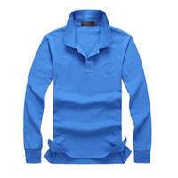 Бренда Одежда 2019 Горячая мужская Вышивка Поло рубашка Qulity Polos Мужские хлопчатобумажные рубашки с длинным рукавом S-Ports Джетки размером M-4XL Горячая распродажа