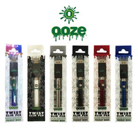 ooze Twist Preheat 320mAh Kit caricabatterie voltaggio variabile Preheat Bud Touch batteria 510 thread Batteria Vape VS Law Vision Spinner Evod
