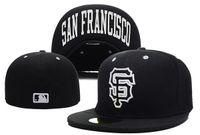 Saha Erkek Giants On Moda-Toptan şapka düz Brim SF mektup ekibi loall Şapka en kaliteli devleri tam kapalı Chapéu embroiered takıldı