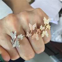 Vecalon Butterfly Promise Ring 925 sterling silver Pave 5A C...