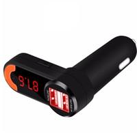 Bluetooth 3 1 Mini Çift USB Araç Telefonu Şarj FM Verici Kablosuz MP3 Bluetooth Handsfree Araç Kiti (Perakende)