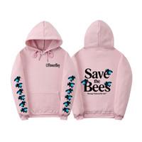 Fashion-Hoodies Bees Impression Pull Fleur Garçon Sweat À Capuche Sweat Mode High Street Marque Haut À Manches Longues Hommes Top Save The Bees Hooded