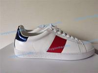 Chaussures de haute qualité ACE brodées Chaussures blanches en cuir véritable Sneaker Mode Sneaker Mens Femmes Chaussures Casual Taille 35-45