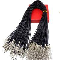 Gloednieuwe wax lederen ketting riem gesp garnalen hanger lederen koord lanyard met ketting DIY componenten sieraden accessoires voorraad