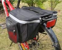 Sıcak Satış-Su Geçirmez Açık Siyah Bisiklet Bisiklet Sele Çanta Bisiklet Çantaları PVC ve Naylon Su Geçirmez Çift Yan Arka Raf Kuyruk Koltuk Çanta Pannier