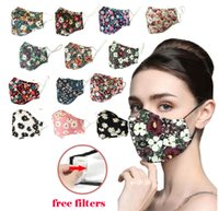 13 colors PM2. 5 Anti- fog dust- proof face masks fashion print...