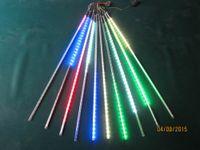 5sets/lot LED SMD2835 72leds Double Side LED Meteor Shower Rain Light Led Tube 12 * 800mm10 Pieces / Set