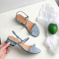 neuer europäischer Luxus-Designer-Stil klassische hochhackige Sandalen Dame Schuhe Paris Topmodel Laufsteg Schnalle Gummilaufsohle