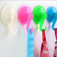 1pcs Removable Badezimmer Küche Wand Starke Saugnapf Haken Vakuumsauger zufällige Farben