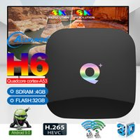 Android TV-Box Q plus Android 9.0 4 GB 32 GB Smart Media Player HD Unterstützung Bluetooth WiFi
