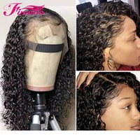 13x6 Lace Front Wig Curly Human Hair Wig For Black Women Pre...