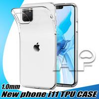1.0 mm b Funda de TPU suave transparente para iPhone 12 Mini 11 Pro MAX X XS XR 8 7 6S PLUS CUBIERTE DEL TELÉFONO DE TRAMPARENT