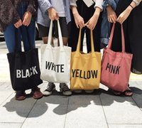 bolso de los hombres 2020 de las mujeres de alta calidad de la lona de la tienda de comestibles a granel de compras reutilizables bolso de la impresión simple carta