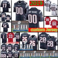 Patriots Custom Jersey 28 James White 26 Sony Michel 33 Dion Lewis 21 Butler 54 Hightower 18 Matthew Slater 32 McCourty 24
