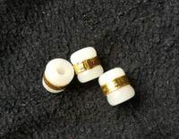 De oro con incrustaciones de jade y Tian Yu carretera carretera del puerto de transferencia de bolas colgantes de jade blanco perlas sueltas DIY libre shippingM2