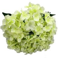 Hortênsia Hortênsia flores flor cabeça artificiais de seda para o festival decoração decoração comercial flor corredor de casamento bouquet