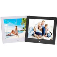 8 polegada Digital Photo Frames1024 * 768 TFT LCD Wide Screen Desktop Photo Frame Digital vidro Photo Frame com pacote de varejo DHL livre