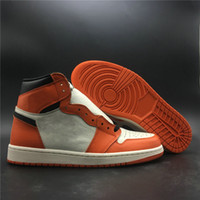 Верхнее качество 1 High OG Reverse Разрушенные Backboard Man Basketball Дизайнерская обувь Популярные I Sail Black Starfish Мода Тренеры Size40-46