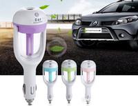 Car Plug umidificatore purificatore veicolare Aromaterapia ultrasuoni umidificatori purificatori d'aria di raffreddamento a secco 180 Rotazione 50ML