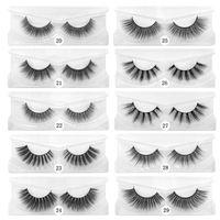 10 стилей 15мм Eye Lashes 3D норка Ресницы на заказ Private Label Natural Long Fluffy ресниц Eye Beauty Tool GGA3444-1