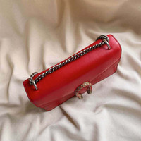 Retro damas clásicas bolsa de cuero de alta calidad de la cadena del bolso del mensajero bolso de las señoras de la manera salvaje casual con cuadro