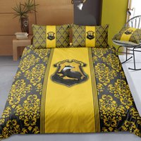 Harry Bedding Set Hufflepuff Fashionable Yellow Soft King Si...