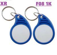 Nouveau F08 RFID 13,56 MHz IC Keyfobs de balises NFC clés ISO14443A MF classique 1k tag jeton pour le système de contrôle d'accès intelligent