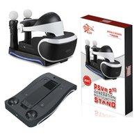 لسوني بلاي ستيشن الشحن PS4 VR حوض 2 4 في 1 حامل قاعدة متعدد الوظائف لPS3 MOVE PS4 التعامل مع شاحن وحدة التحكم