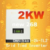 Freeshipping Izgara bağlı invertör, 2kw omnik 220VAC 50 HZ Yüksek verimli güç invertör gird güneş enerjisi sistemi için gird